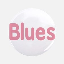 """Blues word pink music design 3.5"""" Button (100 pack"""