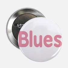 """Blues word pink music design 2.25"""" Button"""