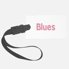 Blues word pink music design Luggage Tag