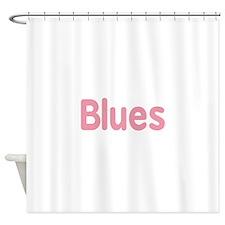 Blues word pink music design Shower Curtain