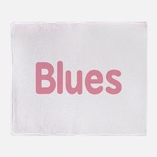 Blues word pink music design Throw Blanket