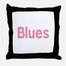 Blues word pink music design Throw Pillow