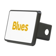 Blues word orange yellow music design Hitch Cover