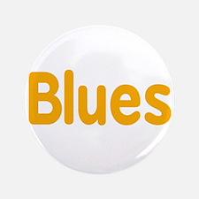 "Blues word orange yellow music design 3.5"" Button"