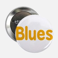 "Blues word orange yellow music design 2.25"" Button"