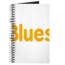Blues word orange yellow music design Journal