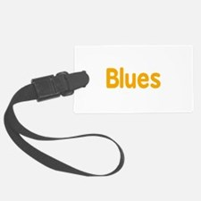 Blues word orange yellow music design Luggage Tag