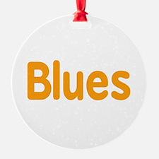Blues word orange music design Ornament