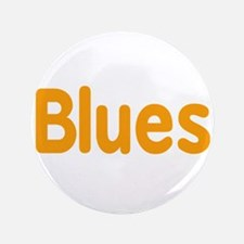 "Blues word orange music design 3.5"" Button (100 pa"
