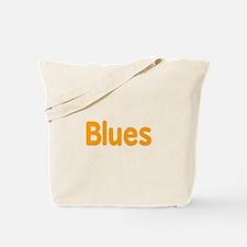 Blues word orange music design Tote Bag