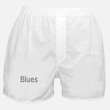 Blues word grey music design Boxer Shorts