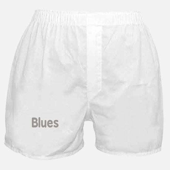 Blues word grey music design Boxer Shorts