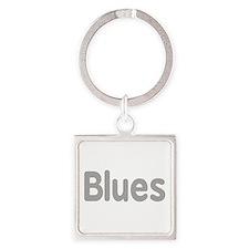 Blues word grey music design Keychains