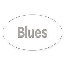 Blues word grey music design Decal