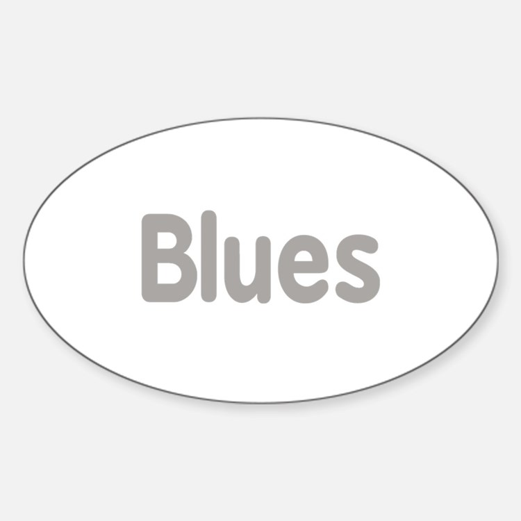 Blues word grey music design Decal