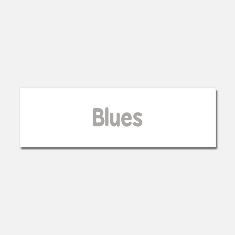 Blues word grey music design Car Magnet 10 x 3