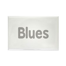 Blues word grey music design Magnets
