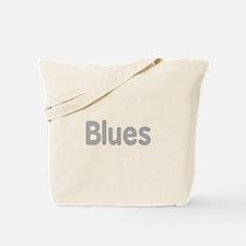 Blues word grey music design Tote Bag