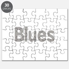 Blues word grey music design Puzzle