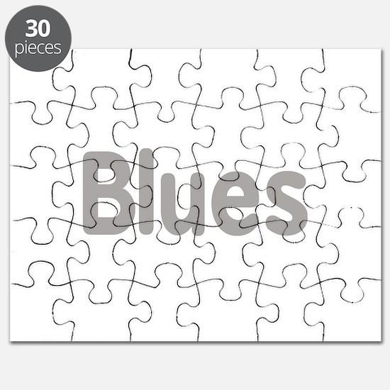 Blues word grey music design Puzzle