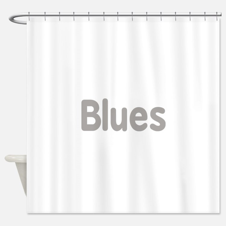 Blues word grey music design Shower Curtain