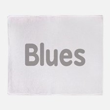 Blues word grey music design Throw Blanket