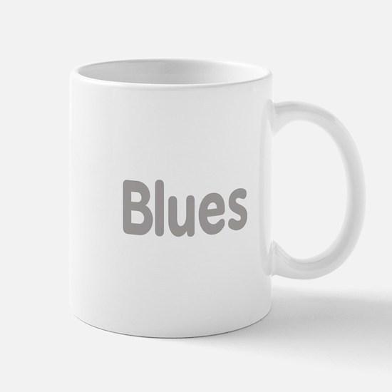 Blues word grey music design Mugs