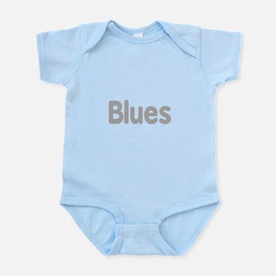 Blues word grey music design Body Suit