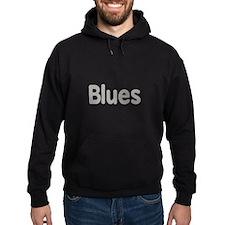 Blues word grey music design Hoodie