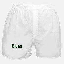 Blues word green music design Boxer Shorts