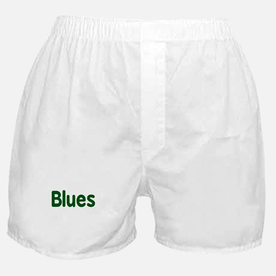 Blues word green music design Boxer Shorts