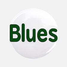 "Blues word green music design 3.5"" Button (100 pac"