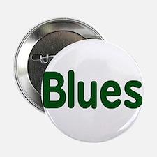 "Blues word green music design 2.25"" Button"