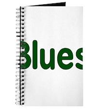 Blues word green music design Journal