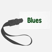 Blues word green music design Luggage Tag