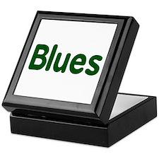 Blues word green music design Keepsake Box