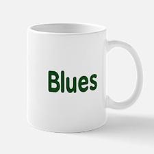 Blues word green music design Mugs