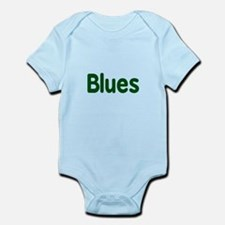 Blues word green music design Body Suit