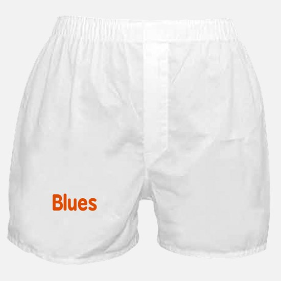Blues word orange music design Boxer Shorts