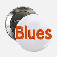 "Blues word orange music design 2.25"" Button"