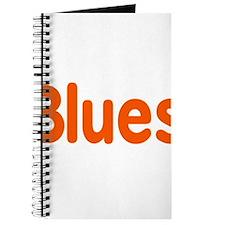 Blues word orange music design Journal