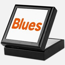 Blues word orange music design Keepsake Box