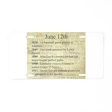 June 12th Aluminum License Plate
