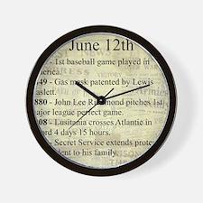 June 12th Wall Clock