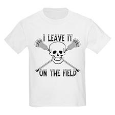 Lacrosse I Leave It On the Fiel T-Shirt