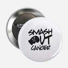 "Smash Out Cancer - Black 2.25"" Button"