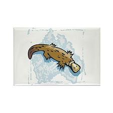 Cute Australian Platypus Rectangle Magnet