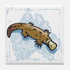 Cute Australian Platypus Tile Coaster