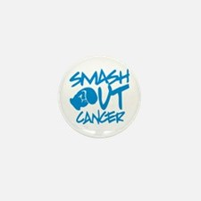 SMASH out Cancer - Electric Blue Mini Button (10 p