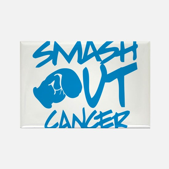 SMASH out Cancer - Electric Blue Magnets